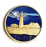 Fog Light Prayer Color Lighthouse Bronze Step 12 Spiritual Medallion Pocket Token