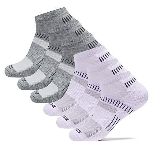 - BERING Men's Performance Athletic Ankle Running Socks Comfort Fit Tab Socks (6 Pair Pack)