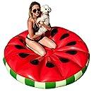 U.S. Pool Supply Giant 5 Foot Inflatable Watermelon Slice Pool Float - Fun Kids Swim Party Toy - Summer Pool Lounge Raft