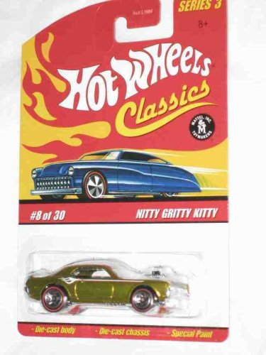 Classics Series 3 #8 Nitty Gritty Kitty Gold 5-Spoke Redlines Collectible Collector Car Mattel Hot Wheels (Vintage 8 Spoke)