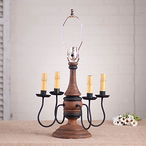 Jamestown Lamp Base in Hartford Pumpkin -