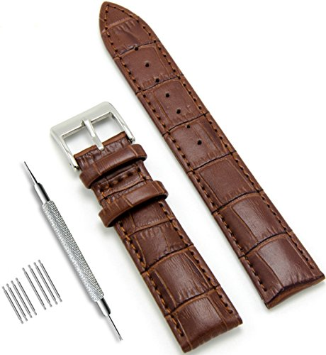 - CIVO Genuine Leather Watch Bands Top Calf Grain Leather Watch Strap 16mm 18mm 20mm 22mm 24mm for Men and Women