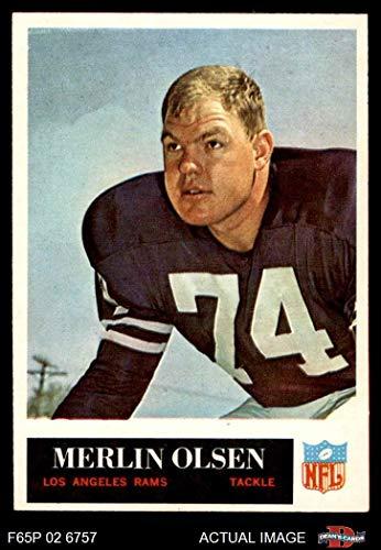 - 1965 Philadelphia # 94 Merlin Olsen Los Angeles Rams (Football Card) Dean's Cards 7 - NM Rams