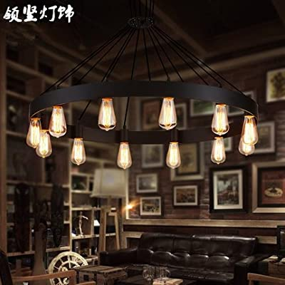 SYF--Creative, vintage, dining room, living room, personality, round, iron, chandeliers
