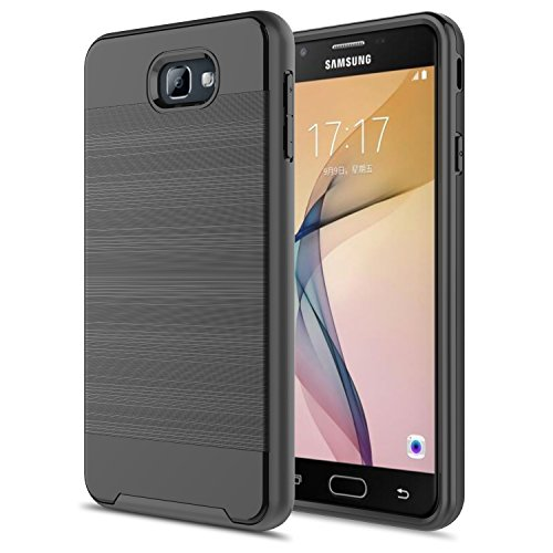 Slim Fit Hybrid Shockproof Case for Samsung Galaxy On7 (Black) - 2