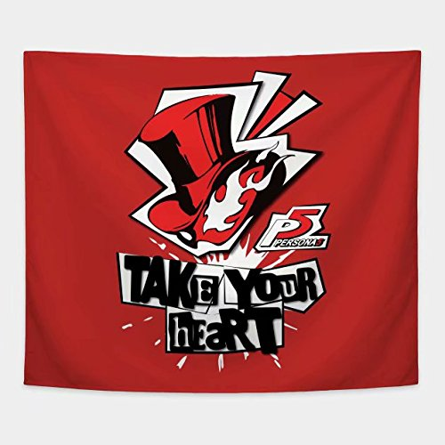 (Cxiuxiu Tapestry Wall Hanging, Wall Tapestry with Persona 5 - Take Your Heart Home Decorations for Living Room Bedroom Dorm Decor 6040)