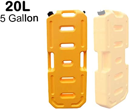 2.6 Gallon, Yellow SXMA Fuel Tank Cans Spare 2.6 Gallon 5 Gallon 8 Gallon Portable Fuel Oil Petrol Diesel Storage Gas Tank Emergency Backup for Jeep JK Wrangler SUV ATV Car Motorcyc Toyota ect Most Cars J171
