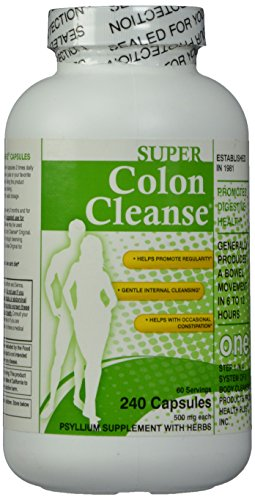 Super Colon Cleanse Capsules, 500 mg, 240 Count