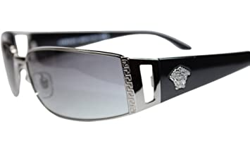 750bcd209364 Image Unavailable. Image not available for. Color  Versace Sunglasses  VE2021 1001 11 Gunmetal Grey ...