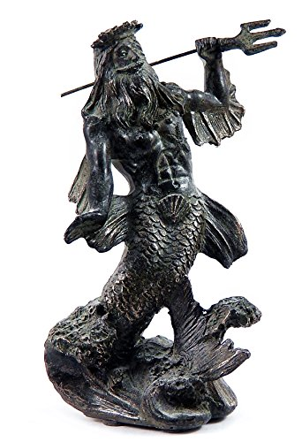 Sale Greek God of the Sea Poseidon with Trident Antiques Bronze Finished Statue (Venus God Of Love)