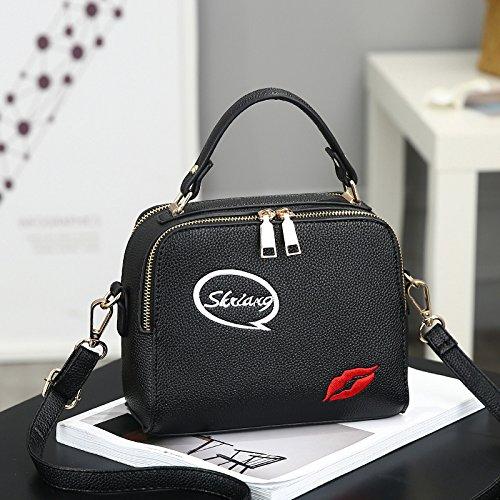 goma Ocio XWAN de nueva black Bolso Bolso Xiekua Paquete moda rojo wIqAz1