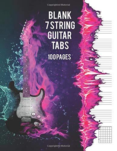 Blank 7 String Guitar Tabs: Large Format Tablature 8.5 x 11 - 100 Blank Tablature Pages For & String Guitar Caru Cerddoriaeth