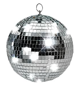 "Forum Novelties Disco Mirror Ball, 10"", Silver"