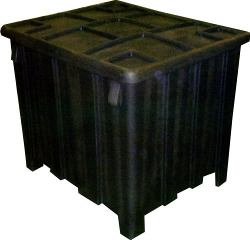 Poly Gaylord Bulk Storage Material Handling Container (Recycled) w/ Lid By Granger (Gaylord Lid)