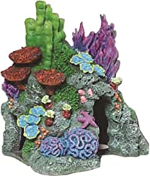Exotic Environments Red Sea Hide-Away Aquarium Ornament, Small, 8-Inch by 6-Inch by 8-1/2-Inch