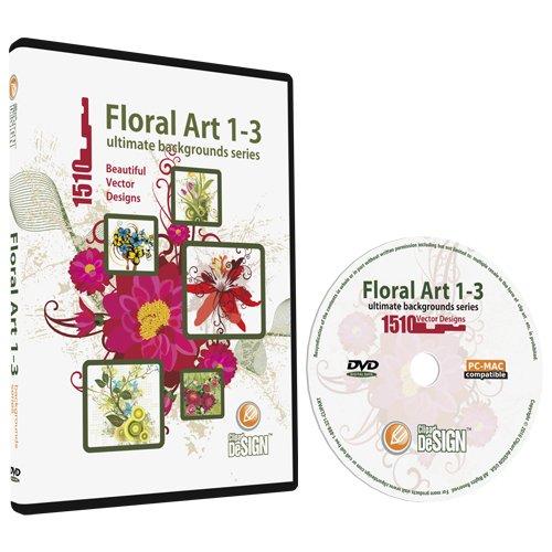 Floral 1-3 Backgrounds MEGA Bundle-Vector Art Images-Grunge Floral, Abstract Flower Graphic Design (1 Clipart)
