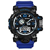 osierr6 Mens Digital Watch, Outdoor Sports Waterproof Watches, Big Face Electronic LED Sport Wrist Watch for Men Teenagers Boys Sold Gift (Red)