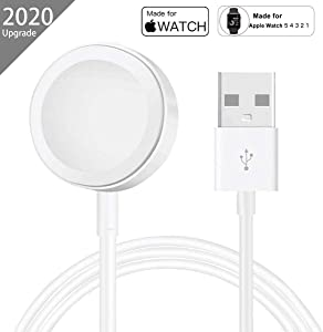 AICase iWatch Charger,Magnetic Watch Wireless Charger iWatch Charging Cable for Apple Watch Series 5/4/3/2/1,38mm,40mm,42mm,44mm (2M)