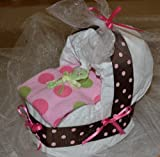 CSM New Baby Diaper Bassinet Gift Set - Girl (Buy From CSM Diaper Cakes to Get One Exactly As Pictured)