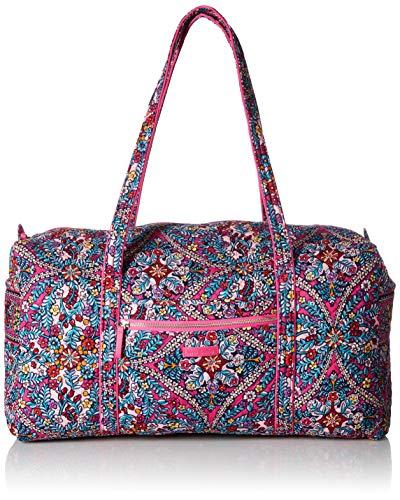 Vera Bradley Women's Signature Cotton Large Travel Duffel Travel Bag, Kaleidoscope, One Size from Vera Bradley