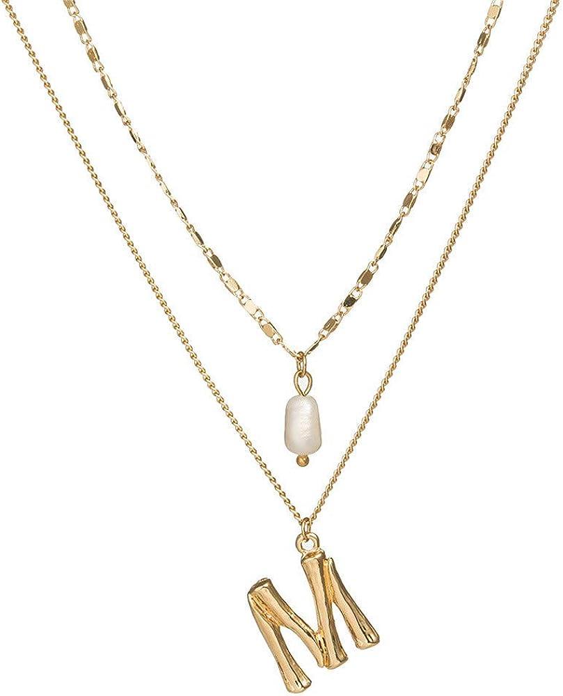 Dragonface Frauen Art und Weise New Mehrschichtige Gold-Ketten-Mond-Stern-Kristall Lange Halskette Anh/änger b/öhmischer Kettenhalsband Schmuck