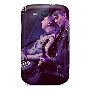ColtonMorrill Samsung Galaxy S3 Anti-Scratch Hard Phone Covers Customized Colorful Papa Roach Image [KdR16106XZfS]