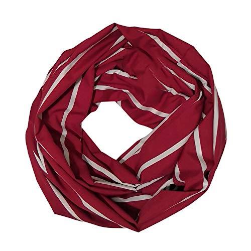 Angelof in lana Scarf Autunno Womens righe taschino Bianco Inverno a lunghe Vogue Hot con bicolore convertibile invernale Sciarpa XIqrI5B1w