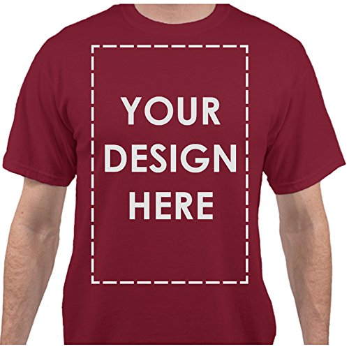 Text Name Personalized Message Image Cardinal Red T-Shirt - Small ()