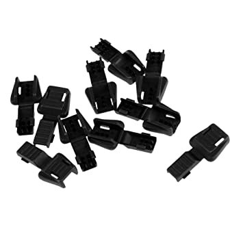 10pcs Replacement Zipper Loop Cord Ends Lock Two Ends for 3-4mm Bungee Rope