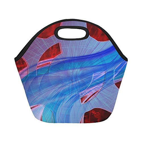 Insulated Neoprene Lunch Bag Gears Machinery Equipment Mechanism Mechanics Large Size Reusable Thermal Thick Lunch Tote Bags For -lunch Boxes For Outdoors,work, Office, ()