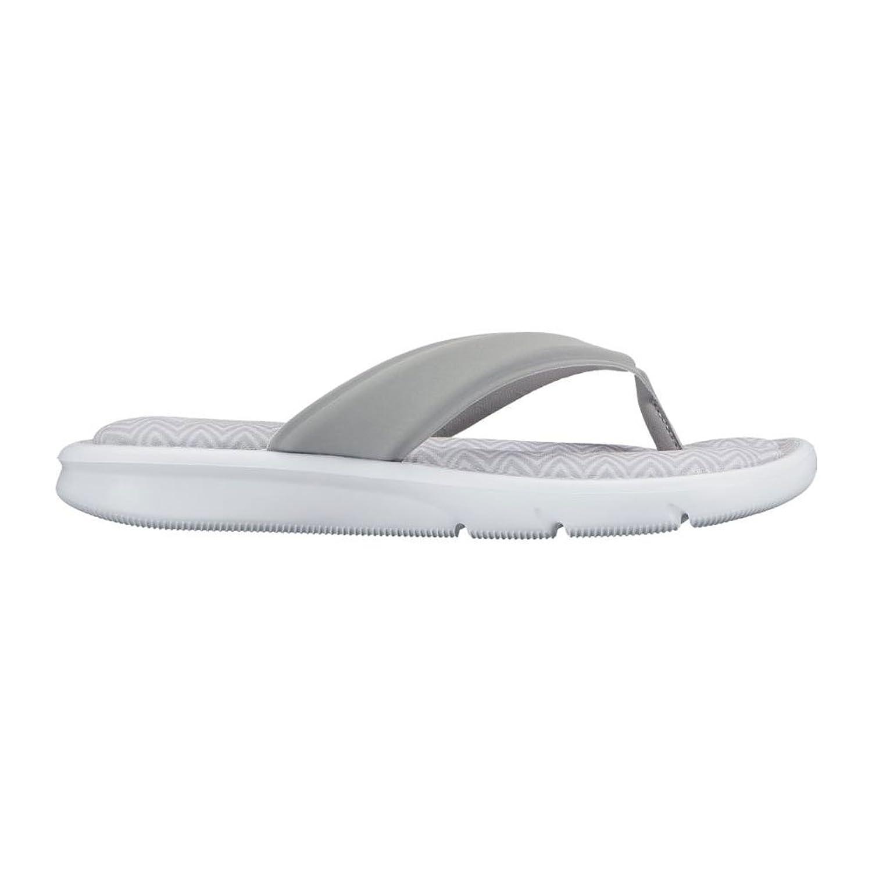 7732be03e98dc Nike Women s Wolf Grey Ultra Comfort Thong Print Sandal Flip Flops Size 8