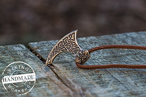 Viking Axe Pendant Viking Amulet Bronze Necklace
