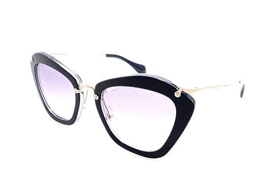 ea2c31e6caf4 Miu Miu 10NS DHI8V1 Blue 10NS Noir Cats Eyes Sunglasses Lens Category 1