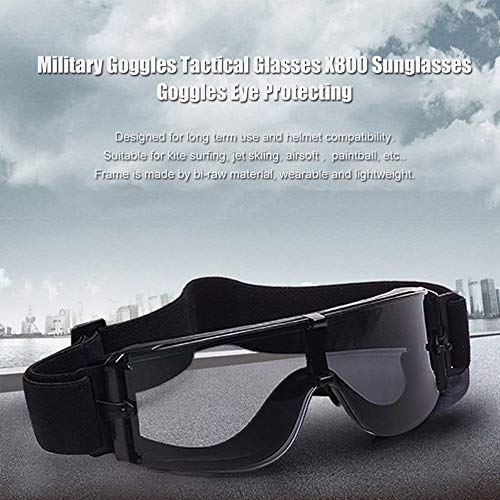 Mimagogo Anteojos Militares de vidrios T/ã/¡Ctico X800 Gafas de Sol Gafas de Protecci/ã/³n del Ojo