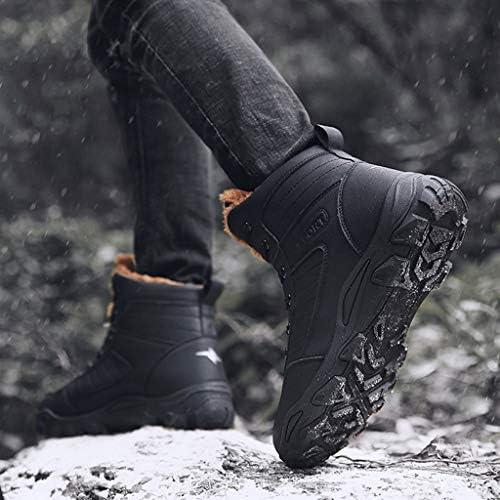完全に毛皮の裏地アウトドアハイキングトレッキング防寒ブーツと冬の雪のブーツメンズミッドレザーブーツ (Color : Camel, Size : 7.5UK)