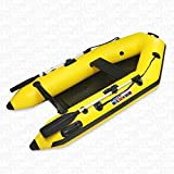 RIB-design inflatable PVC (0,9mm) high quality boat, 230cm length, 2-persons (Yellow)
