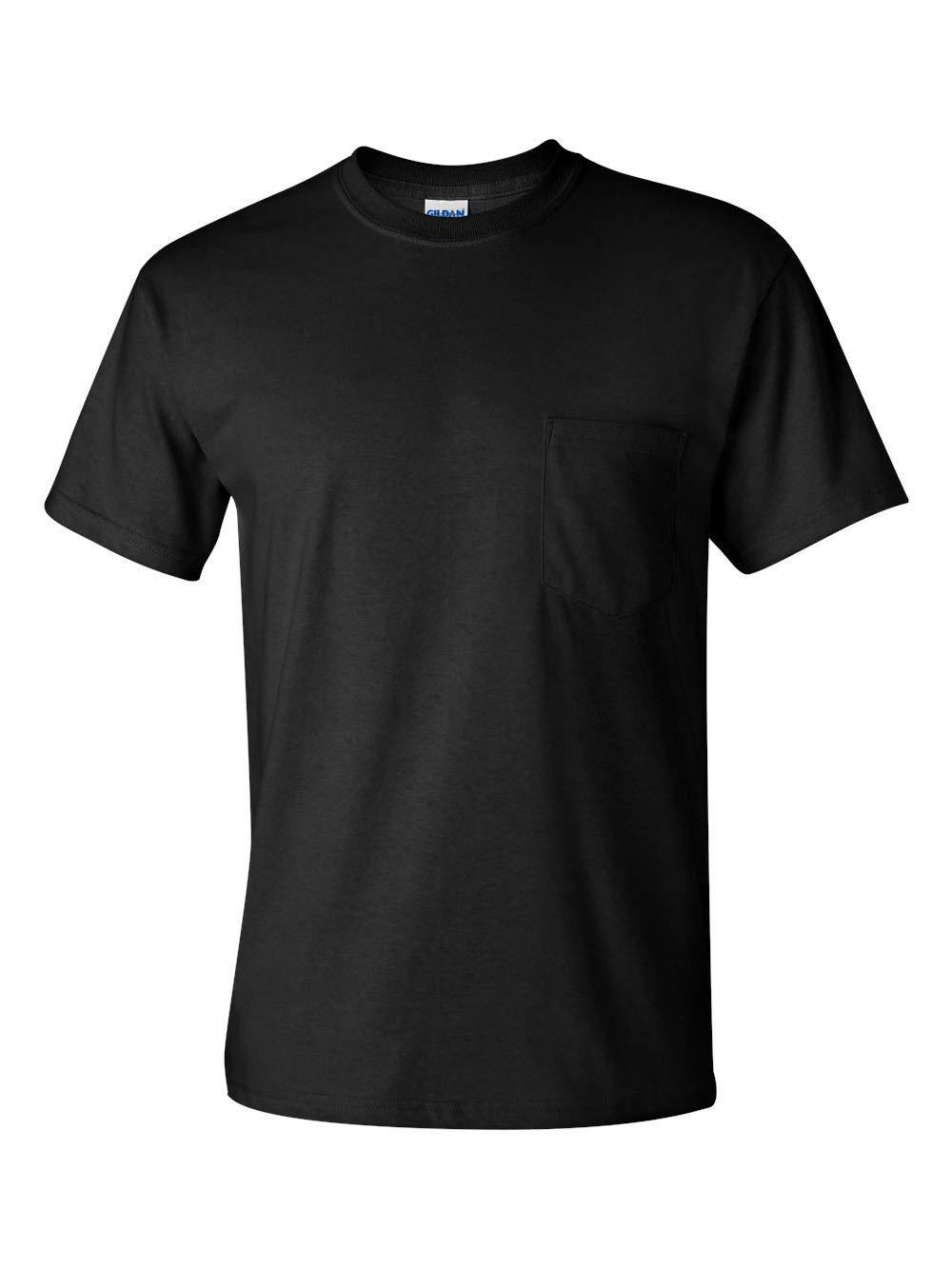Gildan Men's 2-Pack Workwear Pocket T-Shirt, Black, X-Large