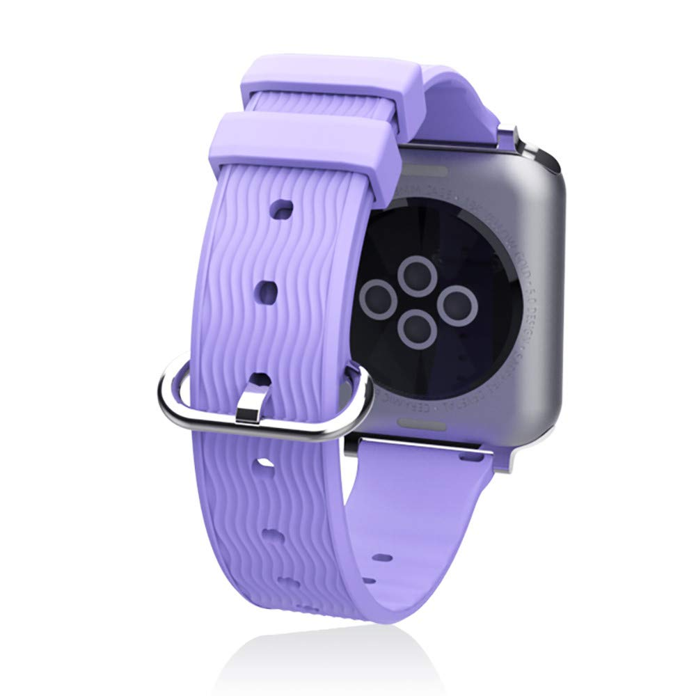 Fit Apple Watch Series Mayunn Milanese Stainless Steel iWatch Band Strap Fit Apple Watch Series 4/1/2/3 (Purper, 38MM/40MM)