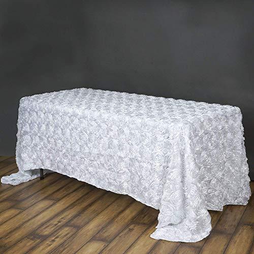QueenDream 3D Floral Tablecloth Rectangular 90