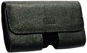 Case-Mate Negro Premium De Cuero De La Pu Horizontal Slide In Case / Portada / Bolsa Con Petaca A Granel Clip Apto Para Samsung S5830 Galaxy Ace