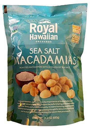 Royal Hawaiian Orchards Macadamias, Sea Salt Macadamia Nuts, 24 Ounces (680 Grams) (Macadamia M And M)