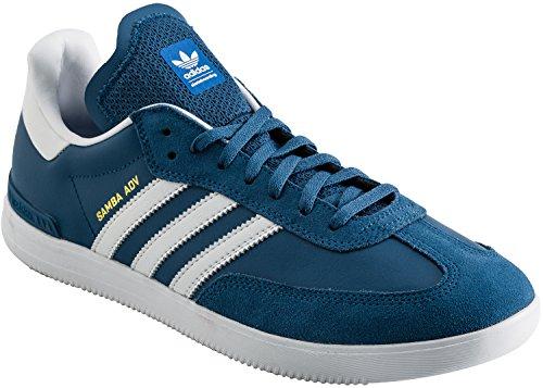 Adidas Skateboarden Mens Samba Adv Kern Blauw / Wit