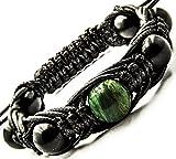 Energy Bracelet Shungite with Gemstone Beads - medium wrist sizes (Jade Africa)