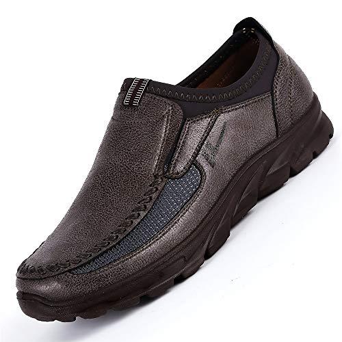 dimensioni di per di ZHRUI stoffa non di vecchie scivolanti Scarpe grandi mocassini EU Marrone Pechino Dimensione traspiranti Colore uomo Grigio 45 FtqAqwPx