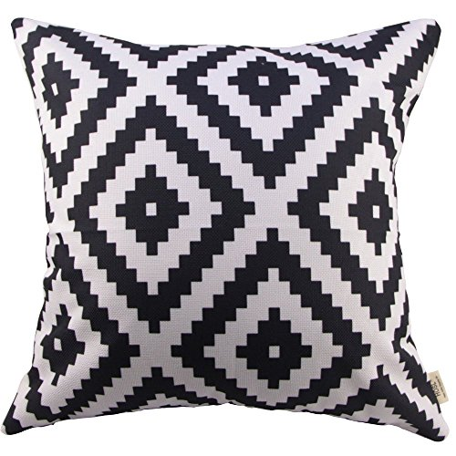 HOSL-Black-and-Withe-Geometry-Decorative-Throw-Pillow-Cover-Cushion-Case-Pillow-About-18-Inch