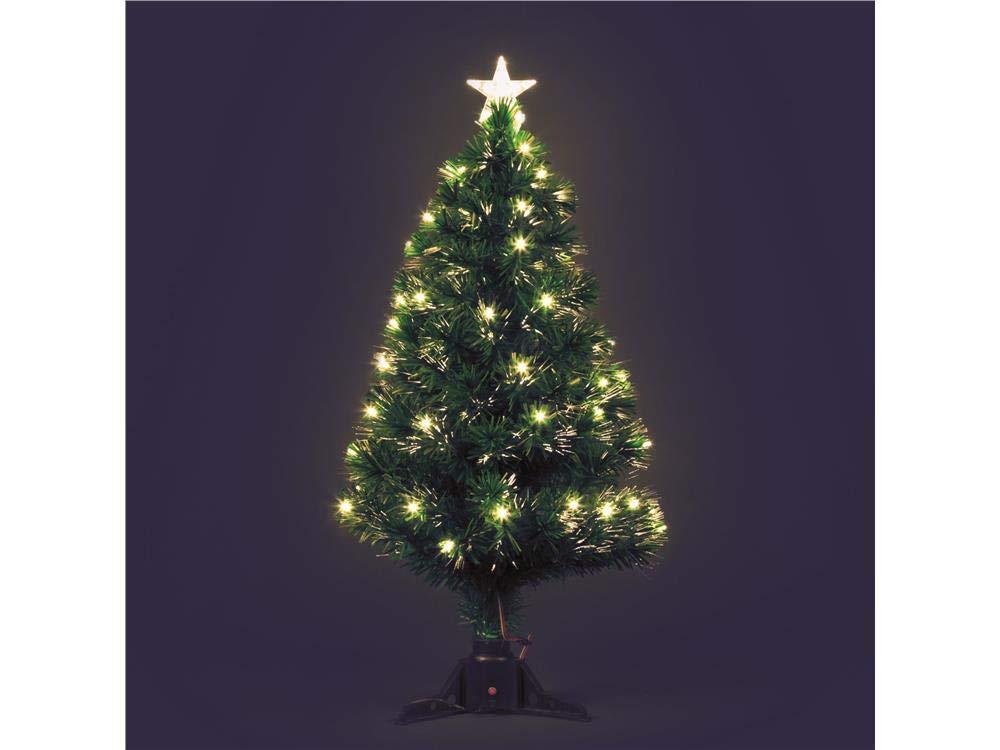 Albero artificiale verde a fibre ottiche, 100 cm, led bianco caldo, alberi di Natale sintetici, alberi finti, alberi di Natale, alberi luminosi Lotti