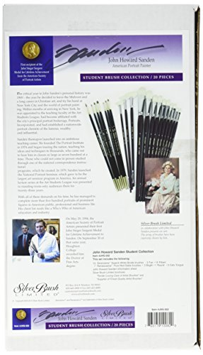 Silver Brush JHS-502 John Howard Sanden Portrait Student Brush Set, 20 Per Pack by Silver Brush Limited