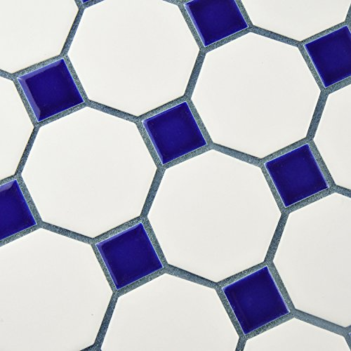 Somertile Fxlmowcb Retro Octagon Porcelain Floor And Wall