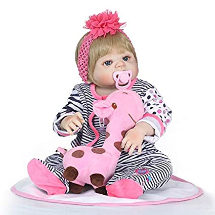 Newborn Baby Doll Girl Realistic Girl Anatomically Correct Magnet Mouth 22inch