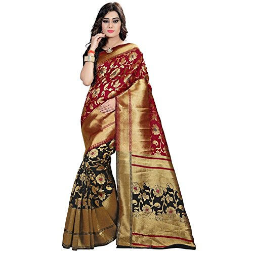425f7834c32c3e Rutrang Banarasi Silk Sarees Zari Work Fancy Sarees for Women with  Unstitched Blouse Piece Poly Silk